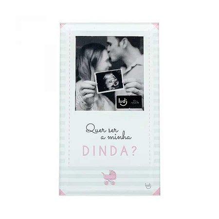 Porta Retrato Cartão Convite madrinha - Bebê