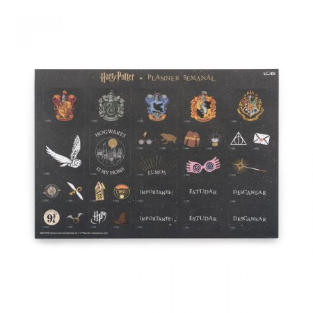 Bloco planner semanal - Harry Potter