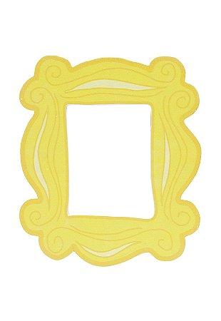Placa moldura amarela - Friends