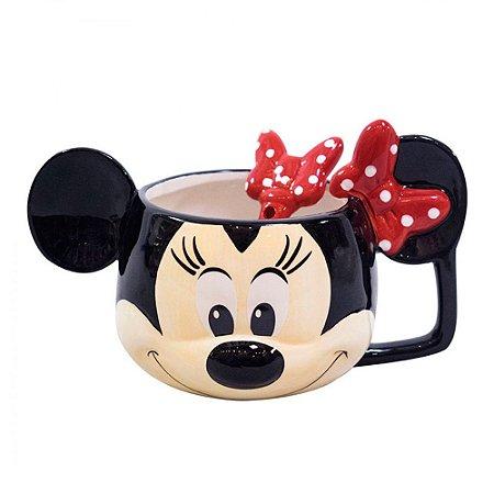 Caneca com colher - Minnie Disney