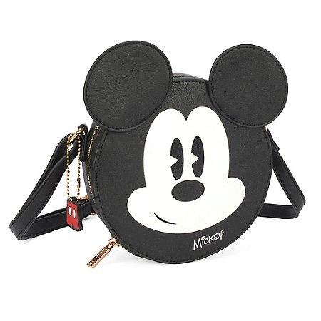 Bolsa transversal shape rosto - Mickey Mouse