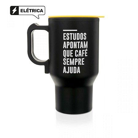 Caneca Életrica Térmica com plug veicular Café 380ml