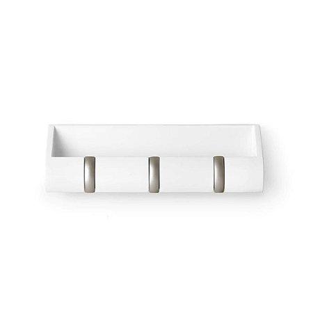 Porta-chaves retrátil e organizador de parede Cubby Mini - Umbra Design