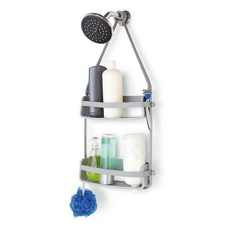 Porta Shampoo e Acessórios de Banho Duplo Flex Caddy - Umbra design