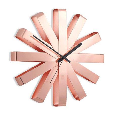 Relógio de parede Ribbon 30cm - Umbra Design