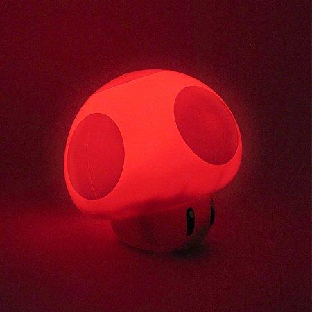 Luminária mini Cogumelo - Super Mario