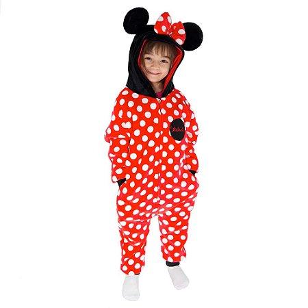 Pijama Macacão kigurumi infantil Minnie Mouse - Disney