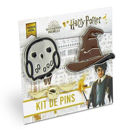 Kit com 3 pins ícones - Harry Potter
