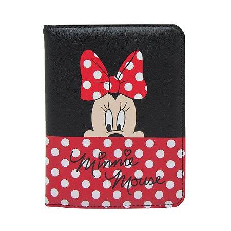 Porta passaporte poá - Minnie Mouse