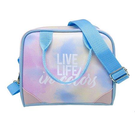 Lancheira Transversal Térmica Tie Dye - Live Life In Colors
