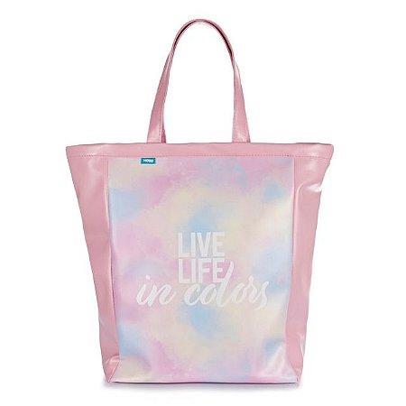 Bolsa Sacola Book Bag Tie Dye - Live Life In Colors