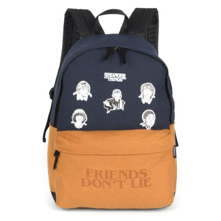 Mochila Notebook Patches Friends Don't Lie - Stranger Things