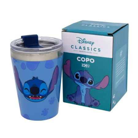 Copo Viagem Snap 300ml Stitch - Disney