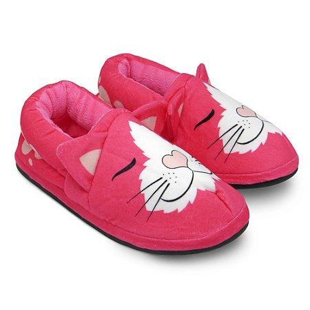 Pantufa Solado EVA - Gato Pink