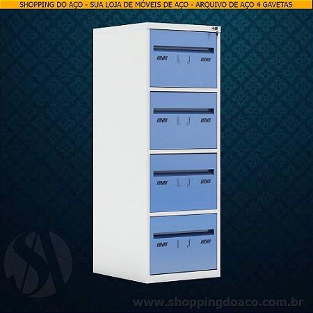 Arquivo de Aço para pasta suspensa com 4 gavetas W3 - 50cm Profundidade