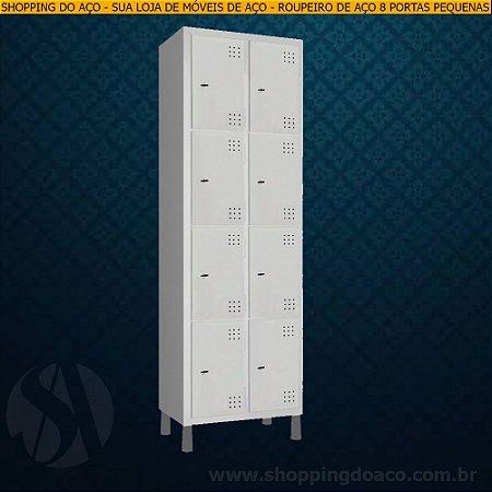 Roupeiro de Aço para Vestiário 8 Portas Pequenas LN