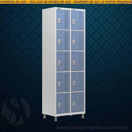 Roupeiro de Aço para Vestiário 10 Portas Pequenas W3