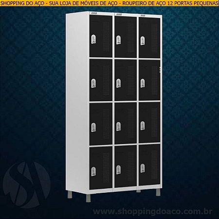 Roupeiro de Aço para Vestiário 12 Portas Pequenas W3