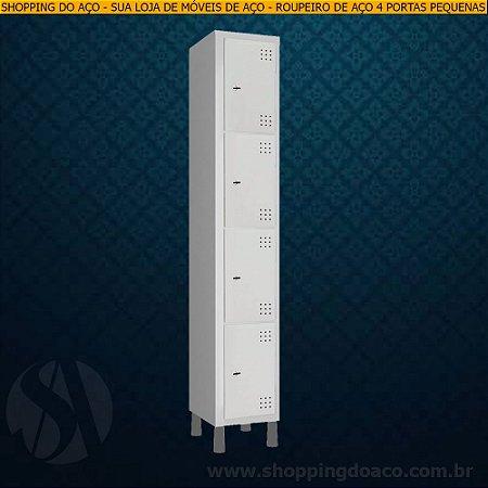 Roupeiro de Aço para Vestiário 4 Portas Pequenas LN