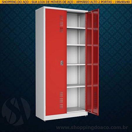 Armário de aço para escritório 198x90x40 - W3