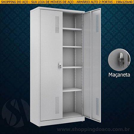 Armário de aço para escritório 198x120x45 - W3