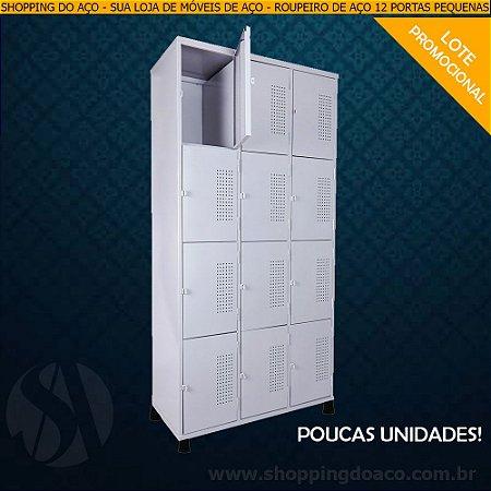 Roupeiro de Aço para Vestiário 12 Portas Pequenas RCH