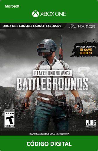Playerunknown's Battlegrounds Xbox One Código