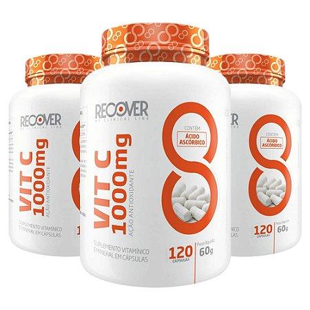 KIT com 3 unidades - Vitamina C 1000mg - 120 Cápsulas