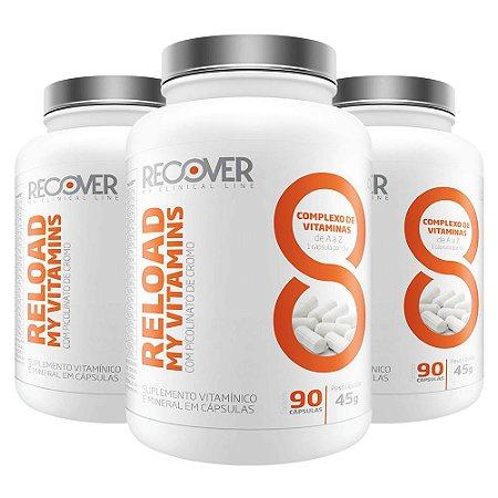 Kit com 3 unidades Multivitamínico - Reload My Vitamins 90 Cápsulas