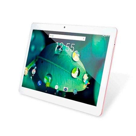 Tablet M10 4G Golden Rose Quad Core Android Oreo Dual Câmer