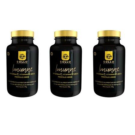 Kit 3x Imunne 60 Cápsulas, Sollo Nutrition
