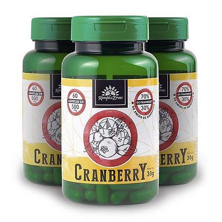 Kit 3x Cranberry 500mg 60 Capsulas