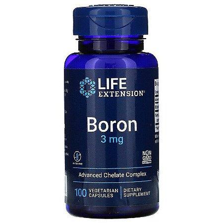 Boron, Life Extension, 3 mg, 100 Cápsulas, Importado