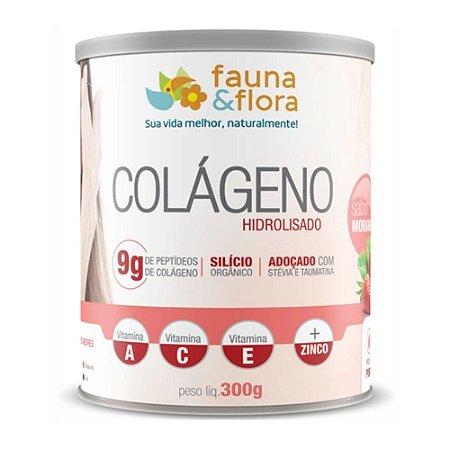 Colágeno Hidrolisado com Silício Org zero sabor Morango 300g