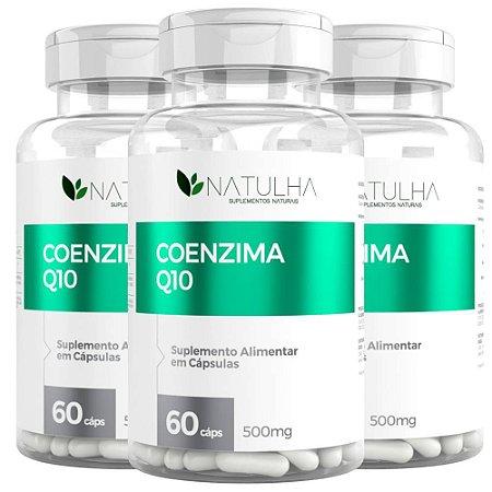 Kit 3x Coenzima Q10 (Ubiquinona) 60 Capsulas