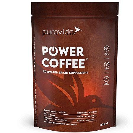 Power Coffee Activated Brain Supplement 220g, Puravida