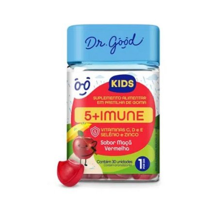 Suplemento Alimentar Dr. Good 5+ Imune Kids Com 30 Gomas