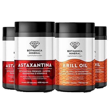 Proteja o Coração Combo 2x Astaxantina + 2x Krill Oil 60 cap