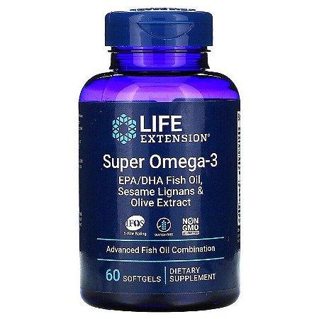 Super Omega-3 Premium EPA/DHA Life Extension, 60 Softgels