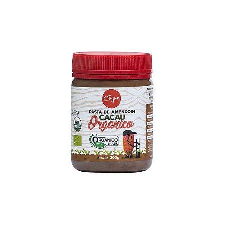 Pasta Amendoim Orgânico Cacau Organ 200g