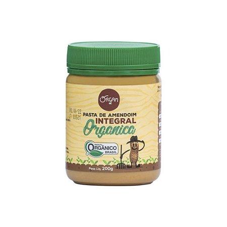 Pasta Amendoim Orgânico Integral Organ 200g