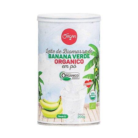 Leite Biomassa Banana Verde Orgânico em Pó Organ 200g