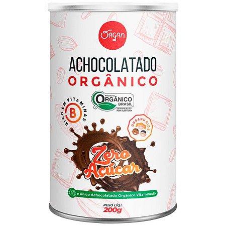 Achocolatado Zero Açúcar Orgânico Organ 200g