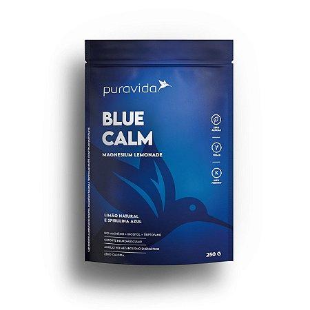 Blue Calm Magnésio, Inositol, Triptofano, Taurina e Spirulina Azul, Puravida