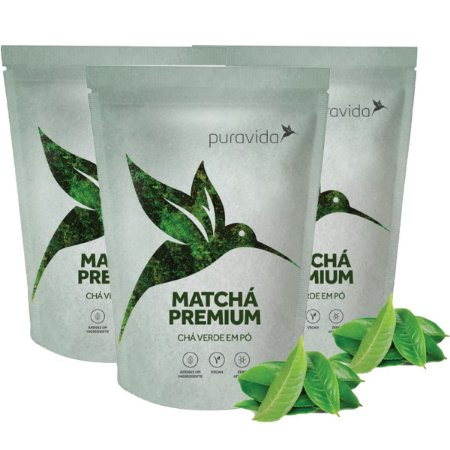 Kit 3x Matchá, Chá Vegano, Zero Aditivos, Antioxidante 100g