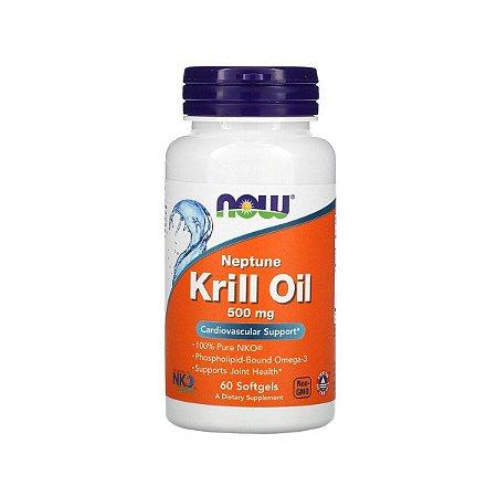 Óleo de Krill Neptune, Now Foods, , 500 mg, 60 Cáp Importado