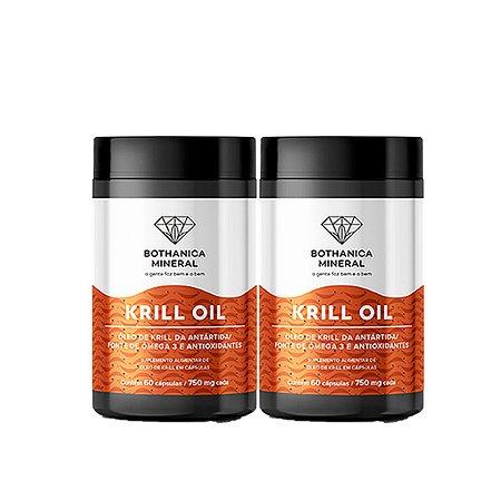 Kit 2x Krill Oil Fonte Sustentável De Ômega 3, Bothanica