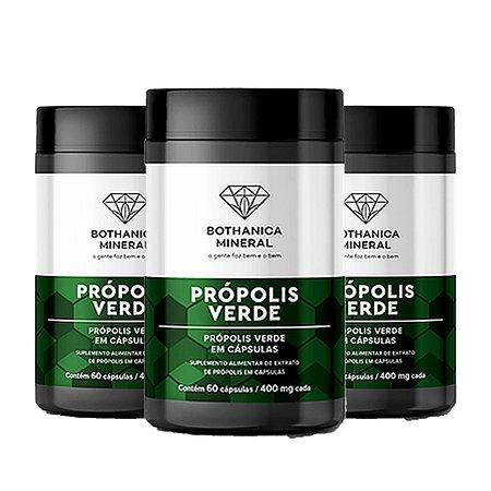 Kit 3x Própolis Verde 60 Capsulas, Bothanica Mineral