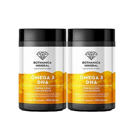 Kit 2x Ômega 3 DHA1000mg EPA400mg 60 Caps Bothanica Mineral