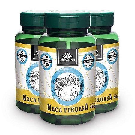 Kit 3x Maca Peruana 500mg 90 Capsulas 100% Integral